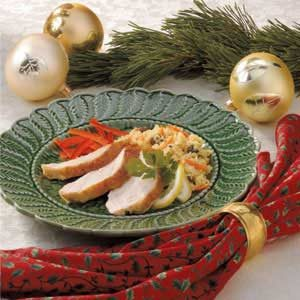 Lemon Turkey with Couscous Stuffing Recipe