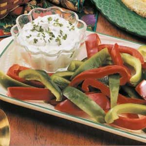 Herbed Cheesy Veggie Dip Recipe