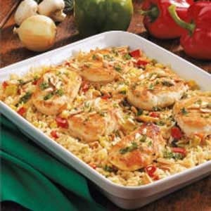Chicken Rice Casserole with Veggies Recipe