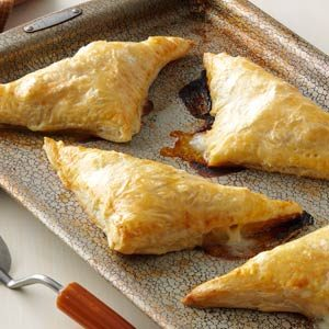 Pear, Ham & Cheese Pastry Pockets Recipe