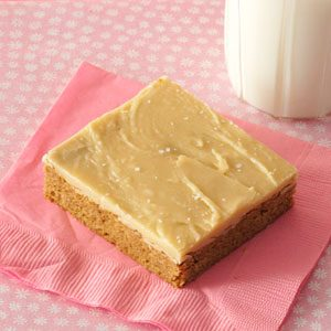Spice Cake Bars with Salted Caramel Icing Recipe photo by Taste of ...