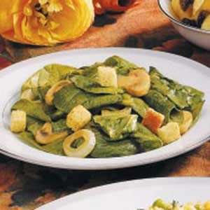 Warm Spinach Mushroom Salad Recipe