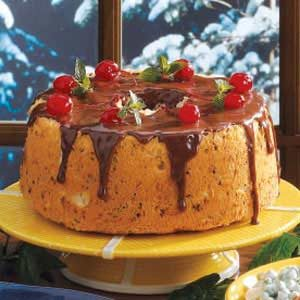 Chocolate Cherry Angel Cake Recipe