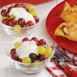 Cream-Topped Grapes