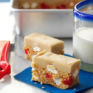 Cherry-Coconut Slices Recipe
