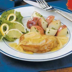 Pineapple-Onion Pork Chops Recipe
