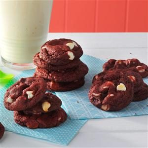 Red Velvet White Chip Cookies Recipe
