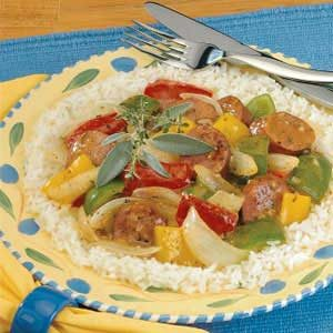 Savory Sausage and Peppers Recipe