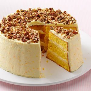 Layered Orange Sponge Cake Recipe