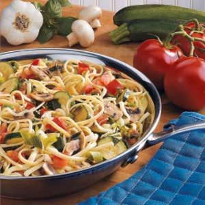 Colorful Vegetarian Linguine Recipe