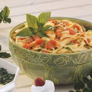 Tomato Basil Fettuccine Recipe