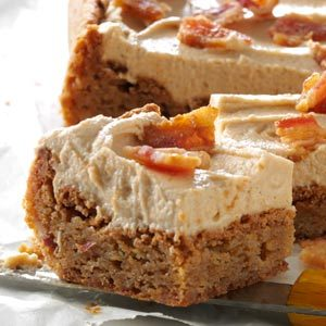 Peanut Butter & Bacon Blondies Recipe