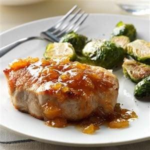 Pineapple-Dijon Pork Chops Recipe