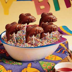 Chocolate Fish Lollipops Recipe