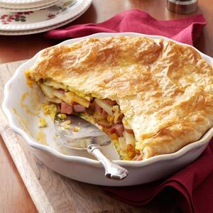 Potato Ham Omelet Pie Recipe