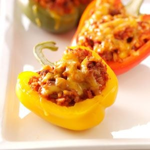 Cheeseburger Pepper Cups Recipe