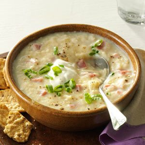 Slow Cooker Potato & Ham Soup Recipe