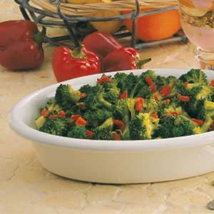 Broccoli with Roasted Red Peppers Recipe