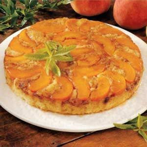 Upside-Down Peach Cake Recipe