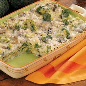 Makeover Creamy Broccoli Lasagna Recipe