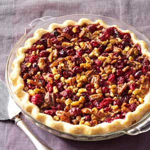 Cranberry Double-Nut Pie Recipe