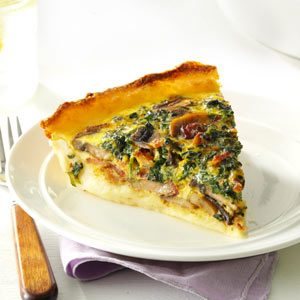 Spinach Quiche with Potato Crust Recipe