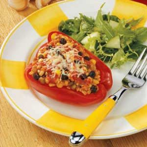 Multigrain Stuffed Pepper Cups Recipe