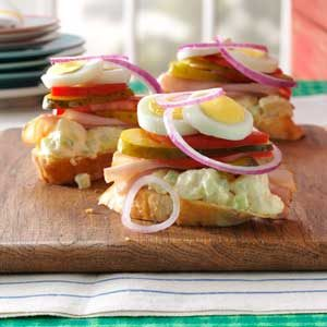 Ham & Potato Salad Sandwiches Recipe
