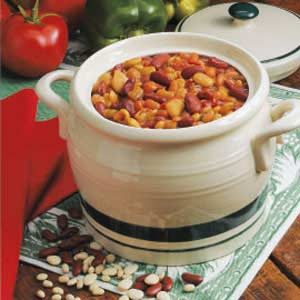 Light Three-Bean Casserole Recipe