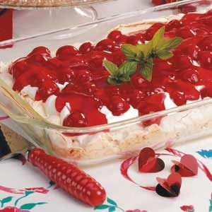 Sweet Cherry Meringue Dessert Recipe