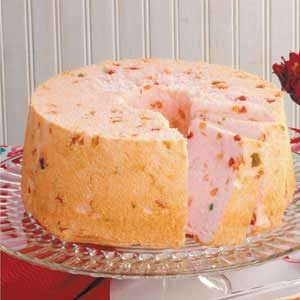 Tutti-Frutti Angel Food Cake Recipe