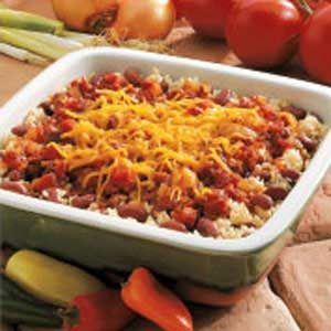 Cheesy Beans and Rice Recipe