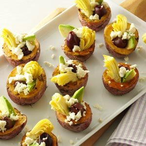 Greek Stuffed Mini Potatoes Recipe