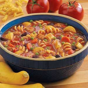Sausage Pasta Stew Recipe