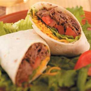 Green Chili Beef Burritos Recipe