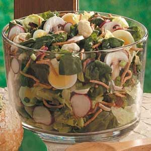 Spinach Floret Salad Recipe
