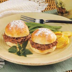Venison on Caraway Rolls Recipe