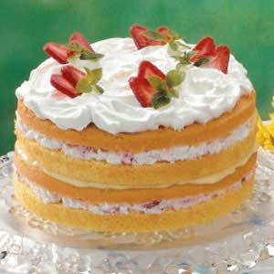 Strawberry Custard Torte