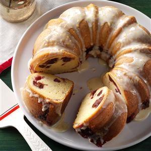 Cranberry-Filled Orange Pound Cake Recipe