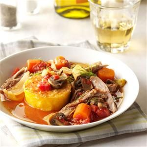 Italian-Style Turkey with Polenta Recipe