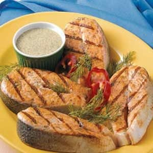 Grilled Salmon Steaks Recipe