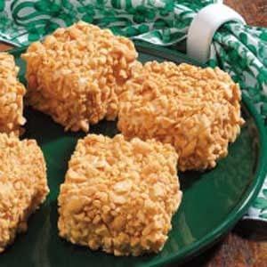 Peanut Cake Squares Recipe