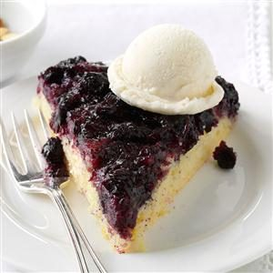 Blueberry Upside-Down Skillet Cake Recipe