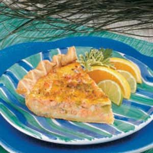 Cheddar Salmon Quiche Recipe