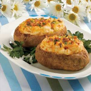 Cheesy Baked Potatoes Recipe
