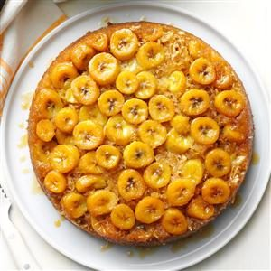 Banana Skillet Upside-Down Cake Recipe