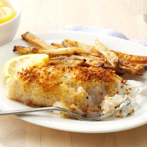 Fish & Chips with Dipping Sauce Recipe