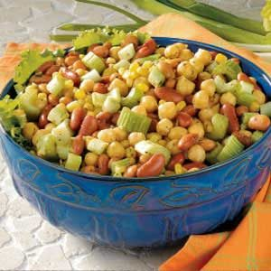 Curried Three-Bean Salad