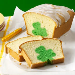 Shamrock Cutout Pound Cake Recipe