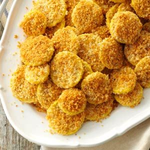 Baked Parmesan Breaded Squash Recipe
